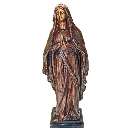 Design Toscano Blessed Mother Garden Statue Cast Bronze Green Ankles Gardening Supplies