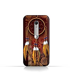Moto X play TPU Silicone Case With American Feathers Design