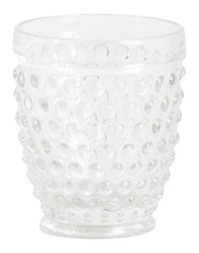 Hobnail Clear Glass - SARO LIFESTYLE SE007.C Hobnail Tumbler Glass, Clear, 11.84-oz (Set of 6 pcs)