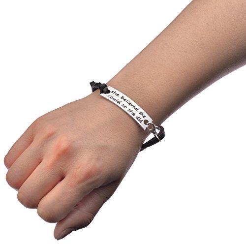 1 pair cute surfer friendship mantra bracelet leather