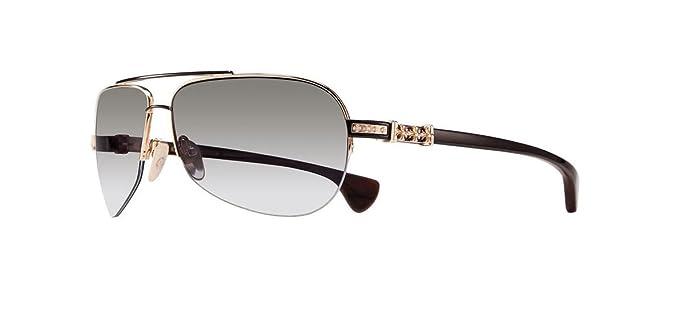96698880fcc2 Chrome Hearts - Grand Beast III - Sunglasses (Gold Plated Shiny Black-Wood