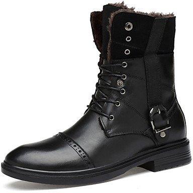 RTRY Zapatos de mujer de piel auténtica moda otoño invierno la nieve botas botas botas de combate Bootie Botines Botas/botines de Casual Negro us5 / Ue35 / UK3 / CN34 US9.5-10 / EU41 / UK7.5-8 / CN42