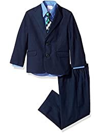 Boys' Suit Set with Jacket, Pant, Shirt and Tie