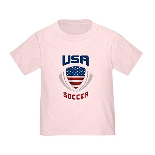 CafePress Soccer Crest USA Blue Toddler T-Shirt Cute Toddler T-Shirt, 100% Cotton