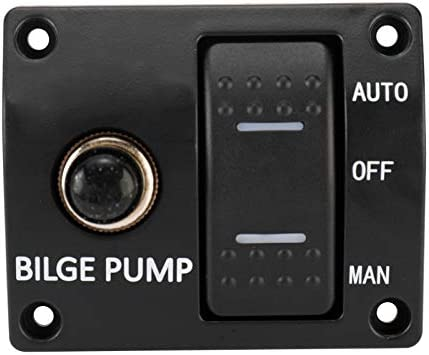 and Auto//Off//Man LED Rocker Bilge Pump Switch Panel PetierWeit Automatic Submersible Water Bilge Pump for Boat Marine,12v 750gph