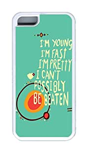 Apple iPhone 5C Cases, Apple iPhone 5C Case/Cover Designs I'm Young Custom TPU Rubber Soft iPhone 5C Case and Cover - White