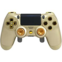 Gold/Chrome Gold PS4 Elite Controller Custom with Paddles, Trigger Stops. Professional level graded equipment. Tournament approved and legal! For FPS games, COD WW2, Fortnite, Destiny, Black Ops
