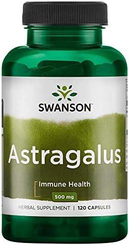 Swanson Astragalus Standardized 500 Milligrams 120 Capsule