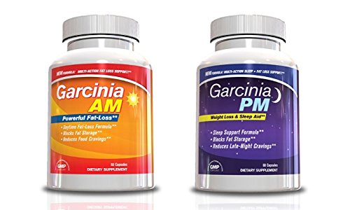 Garcina A.M. + P.M. 24 Hr Weight Loss Supplement & Sleep Aid Kit, 30 Day Supply, Best Weight Loss (Loss Stack)