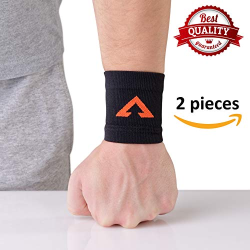 Maximum Mobility - Atlas Sport Compression Wrist Support with Copper | Flexible Stabilizer Braces for Maximum Mobility & Injury Prevention | Comfortable Sleeve Design for Pain Relief, Circulation & Recovery | 1 Pair (M)