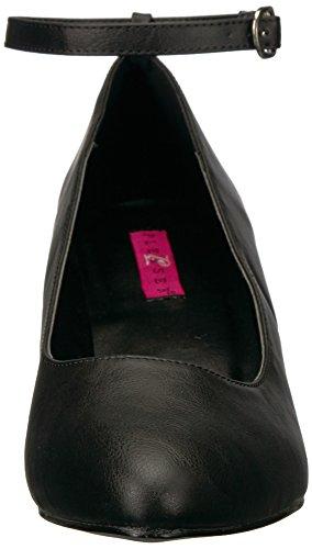 Pleaser DIVINE-431 Damen Riemchenpumps Blk Faux Leather