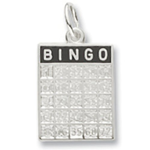 Bingo Card Charm In 14k White Gold, Charms for Bracelets and (14k Gold Bingo Card Charm)