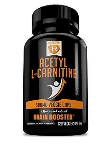 Acetyl L-Carnitine 500mg Extra Strength Supplement | 120 Vegetarian Capsules – Alcar by True Recovery