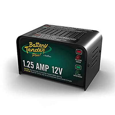Battery Tender Plus Charger and Maintainer: 12V, 1.25 Amp Powersport Battery Charger and Maintainer for Motorcycles, ATVs, UTVs, and More - Smart 12 Volt Automatic Float Chargers by Deltran - 021-0128: Automotive