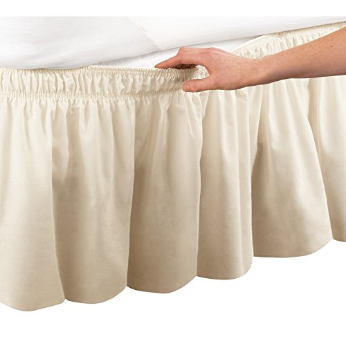 Collections Etc Wrap Around Bed Skirt Easy Fit Elastic