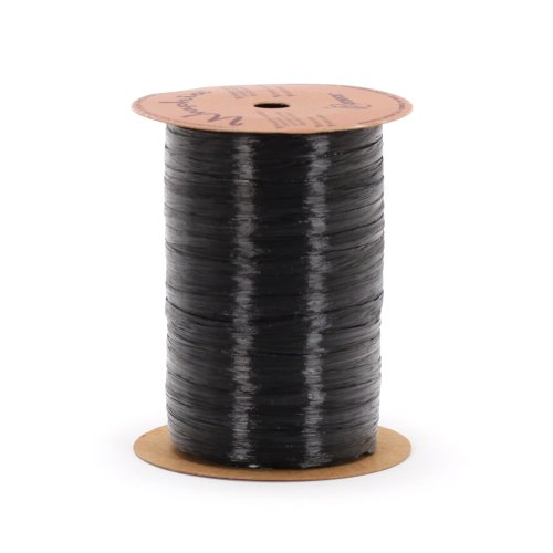 Berwick Offray Black Pearlized Raffia Ribbon, 1/4'' Wide, 100 - Ribbon Pearlized Raffia Rayon