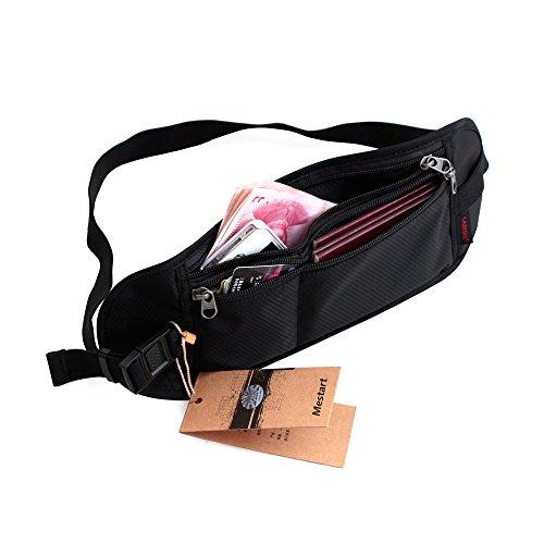 Waist Travel Belt Money Passport Wallet Pouch Ticket Bum Bag Black - 5