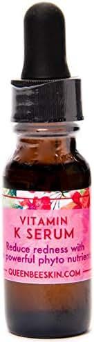 New Vitamin K Skincare Organic Capillary Strengthening Facial Serum Vitamin K for Rosacea (.5 Oz)