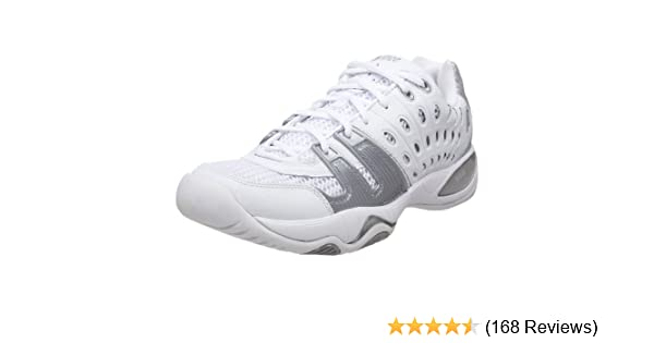 Amazon.com | Prince Womens T22 Tennis Shoe, White/Silver, 6 M US | Tennis & Racquet Sports