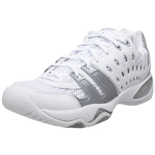 (Prince Women's T22 Tennis Shoe,White/Silver,8 M US)