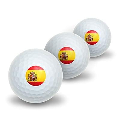 Spain Spanish Flag Novelty Golf Balls 3 Pack