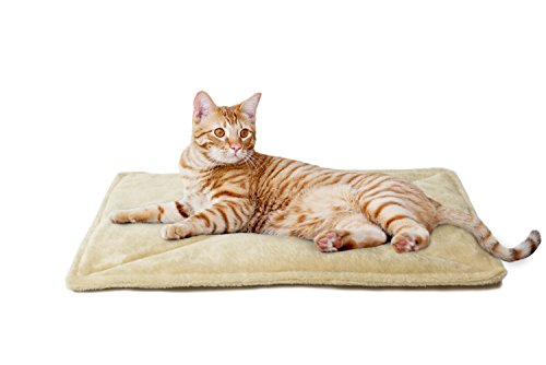 FurHaven Pet Heating Pad | ThermaNAP Faux Fur Self-Warming Cat Bed, Cream