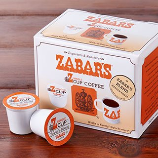 Zabar's Z Unique Cup Gourmet Coffee Zabar's Blend K-Cup Capsules (Kosher) - Works with Keurig Style Brewers