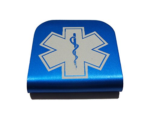 Star of Life EMT Morale Tags Hat Clip for Tactical Patch Caps (Blue)