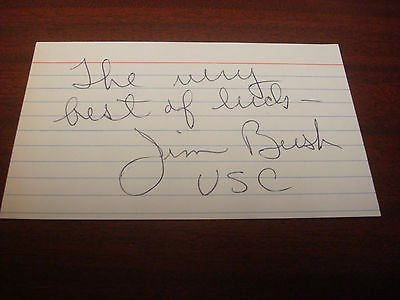 Jim Bush USC & UCLA Track & Field Coach Signed 3x5 Index Card Authentic Auto M7 (Jim Bush Track compare prices)