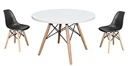 Brilliant Amazon Com Plata Eames Style Kids Table And Two Kids Dsw Cjindustries Chair Design For Home Cjindustriesco