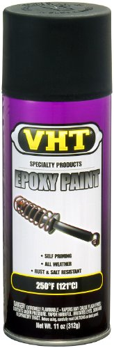 VHT SP652 Satin Black Epoxy All Weather Paint Can - 11 oz. - Black Satin Paint Finish