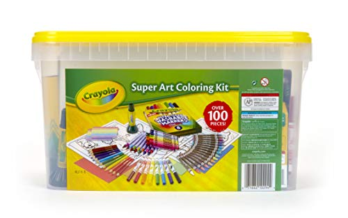 Crayola 04-0294 Super Art Kit, Gift for Kids, Exclusive, Over 100Piece