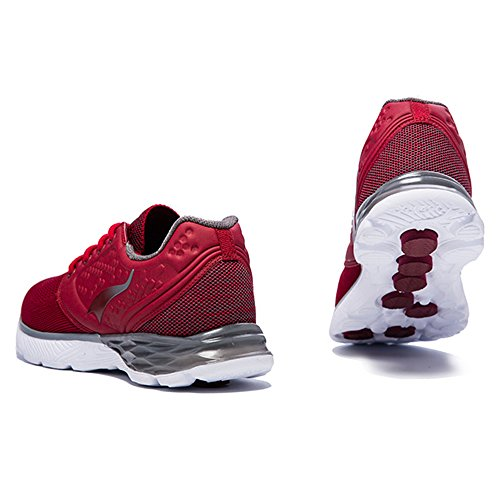 websites cheap price OneMix Mens Air Trainers Gym Fitness Comfort Sports Walking Mesh Black White Running Shoes Casual Shoes Deep Red sneakernews sale fake sale genuine high quality online Aw6Yeprm