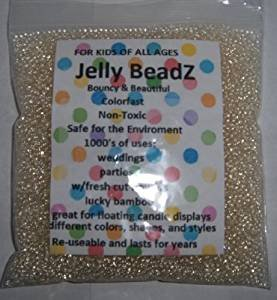 Clearly Clear - JellyBeadZ - Clear 2.5-3.0 mm Water Beads-Centerpiece Wedding Tower Vase Filler-Makes 6 Gallons with a  8 Ounce Pack (Floral Beads)