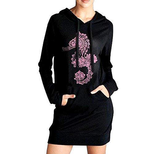 Seahorse Womens Long Sleeve (LL&YGG Womens Long Fleece Seahorse Long Sleeve Sweater Coat For Woman)