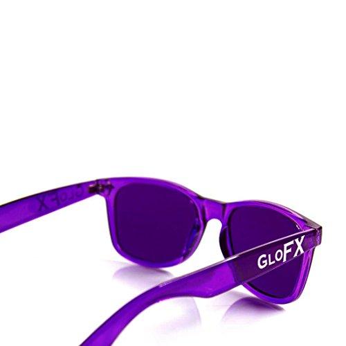 para relajantes Violeta Gafas mujer GloFX B47TqT