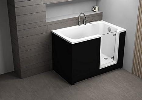 Vasca Da Bagno Per Anziani : Pere vasca da bagno per anziani nero cm cm amazon