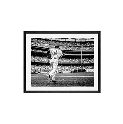 Yankees, Derek Jeter, Framed Art, 11x14,The Final Walk-Off, New York Yankees, Baseball Art, Vintage Jeter Photograph, Derek Jeter Photograph 14x18 inch Frame