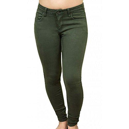 Slim Jean et suprieure Kaki Kaki qualit Stretch Primtex Femme Souple Haute Taille Coupe TqUnO