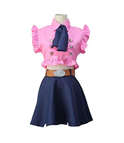 (Anime Womens Sins Elizabeth Liones Cosplay Costume Full Set (XL,)