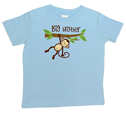 Monkey BIG Brother (1 Blue T-Shirt), Size 2T Big Blue Monkey