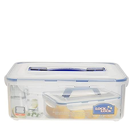 Lock&Lock Classics Handy Storage Container, 4.8 litres, Transparent Jars & Containers at amazon