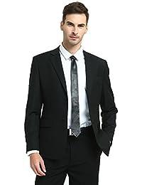 Men's Lamb Leather Tie Solid Black Skinny Necktie