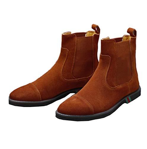 Moda all'Usura Alte Uomo Scarpe Brown 38 Scarpe Casual da Casual Trend Comfort Resistente BYwHgH