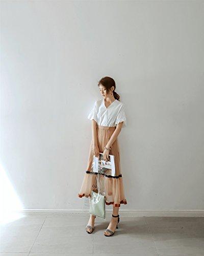 Sommer Kopf mit Schuhe Katze Braun Weiblichen Neue Sandalen Material Koreanischen Runden Flash Xiaoqi Temperament Damen Hochhackigen LIANGXIE RqxfpUf