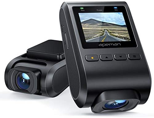 """APEMAN Dash Cam 1080P FHD, Mini Hidden Design Dashboard Camera, Support 128G, 1.5"""" Color Display, 170° Wide Angle, Parking Monitoring, Motion Detection, G-Sensor, Loop Recording and WDR"""