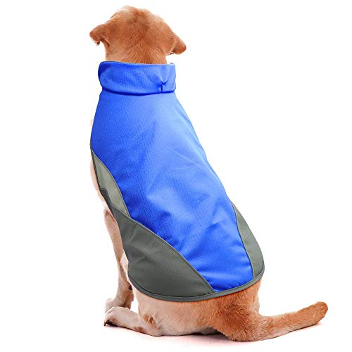 - BSEEN Waterproof Dog Coat, Soft Fleece Lined Reflective Dog Jacket for Winter, Outdoor Sports Pet Vest Snowsuit Apparel, S-XXXL (M, Light Blue)