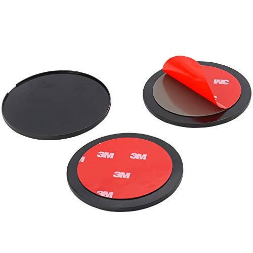 WOLEYI 9CM Adhesive Mounting Disk, 3 Pack Car Dashboard Sticky Pad for Large Suction Cup Mount