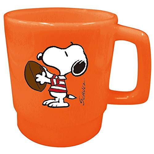 Ohnishi Ken Manufacturing Peanuts Snoopy Plastic Mug (Rugby) 350ml PA-524]()