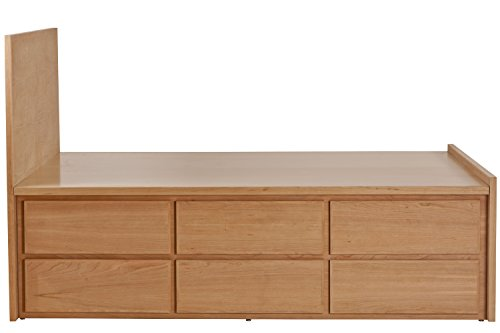 Unfinished Full Headboard - Urbangreen TH3SFCUnf 12 Drawer Thompson Storage Bed with Headboard in Cherry, Full, Unfinished